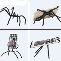 Wholesale Spider Phone - Phone Holder Universal Creative spider phone stent car phone holder lazy flat stand For iphone 6 7 samsung s8 s7