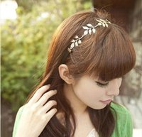 Wholesale Grecian Wholesalers - New Alloy Leaf Leaves Grecian Garland Forehead Head Hair Band Headband Gold Olive Branch Accessory A035