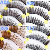 extension des cils inférieurs achat en gros de-10 paires / set New Pretty Lashes inférieur épais coréen fait à la main noir épais faux yeux cils Extension femmes maquillage outils de beauté