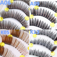 Wholesale Koreans Fake - 10 pairs set New Pretty Lower Lashes thick Korean Handmade Black Thick Fake Eye Lashes Extension Women Makeup Beauty Tools