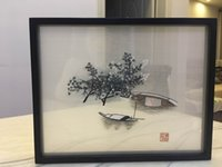 Wholesale Silk Mirrors - creative classical wall art silk embroidery painting opaque hanging wall decor painting Su Xiu