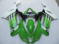 Vendas quentes! New TOP ABS Kit de carenagens para motocicletas Fit para KAWASAKI Ninja ZX6R 07 08 ZX6R 636 2007 2008 carroçaria conjunto preto branco verde fresco