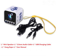 mobile phone mini usb NZ - Hot Sale Wholesale Portable USB Mini Mobile Phone Music Speaker NiZHi TT032B with FM Radio Support Micro SD TF USB Disk Speaker