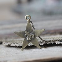 Wholesale Bronze Star Gifts - antique silver or bronze Kingdom Hearts Necklace star jewelry Sora jewelry Friendship jewelry,Wayfinder Christmas gifts C423N