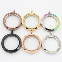 precios de locket al por mayor-Panpan jewelry 30mm twist locket flotante colgante 316L acero inoxidable cristal locket flotante encantos Precio de fábrica