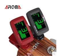 Wholesale Electric Bass Tuners - Fashion Hot Mini Clip-on Electric Guitar Tuner Black Colors Backlit Screen for Guitar Chromatic Bass Ukulele