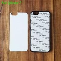 Wholesale Blank Black Iphone Case - 2D Plastic sublimation Blank case for iPhone 7 7S Plus 5 5S SE 6 6S S7 edge note5 PC hard PC case cover