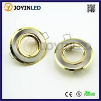 Wholesale Plastic Spotlights - 50mm open hole Golden color recessed gu10 mr16 led Spotlight fixtures