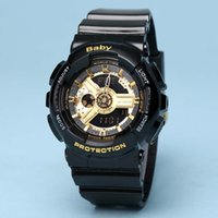 Wholesale Plastic Acrylic Watch - Fashion Men Women watch wristwatch baby watch all functions with water resistant girl g 110 LED watch sport Original box