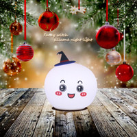 Hallowmas Witch Lamp Eletrônico Silicone Christmas Gift Led Light Eco-Friendly Lovely Shape for Children DHL Frete Grátis
