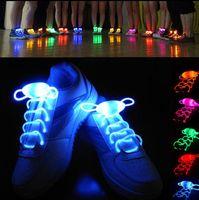 glow-schuh-strings großhandel-LED Sport Schnürsenkel Blitzlicht Glow Stick Strap Schnürsenkel 80 CM Leucht Schuh Strings Leuchtenden Strap Mit Kunststoff Seitentaste KKA2283