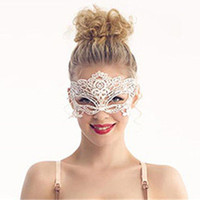 Wholesale Masque Eye - Wholesale-Eye Masks For Venetian Carnival Sexy Lace Mask For Masquerade Ball Halloween Party Mask Saw Costume Female Cosplay Masque 8Style