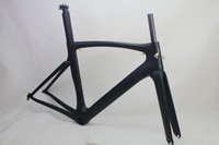 Wholesale Carbon Bicycle Frame Parts - Carbon road bike frames Black matt racing bicycle frame cycling frameset No decals bike parts
