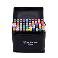 ingrosso set di marcatori d'arte-Touchthee 30 40 60 80 Colori Disegno Art Pennelli Copic Set di pennarelli oleosi alcolici a doppia testa di schizzo Animazione Manga Design