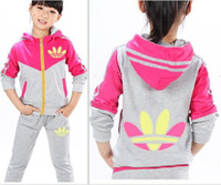 Wholesale Tracksuits For Baby Girls - 2017 Spring Autumn Baby Girls jogging Clothes Jacket sweatpants Kids Hoodies Pants Tracksuit For Girls Clothing Sets Sport Suit