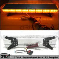 Wholesale Led Amber Warning Lightbar - New 38 inch 72W 72 LED Work LightBar Car Tow Truck Traffic Beacon Transport Strobe Warning Emergency Light Bar Lamp 12V 24V Amber
