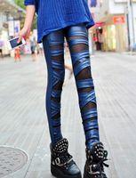 Wholesale Manufacturer Bundles - Jacobs mosaic manufacturers selling female and Korean leather leggings bundled cross nine pants explosion pants