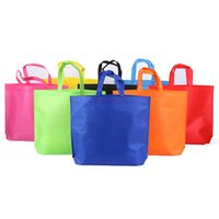 Wholesale Flat Weave Shop - Non-woven Shopping Bag Reusable Tote Folding Storage Reusable Bags Eco-Friendly Affordable Storage Bags 8 Colors OOA2307