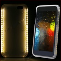LED Light Phone Case Moda Luxo Flash Mobile Led Cover Aumentar a luz facial Luminous Cell Phone Light Up Bumper Protective Shell