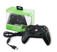 Wholesale Video Games Xbox - 2017 New Black Video Game Wired USB Game Consoles For Microsoft Xbox One Shock Controller With 3.5MM Headset Jack