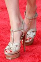 plataforma sexy zapatos de verano al por mayor-Marca de moda Tribute Sandalias de plataforma Mujeres de la marca alta Bombas de punta abierta Sandalias Mujer Sexy Pasarela Celebrity Summer Shoes Woman