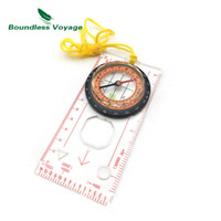 Wholesale Map Tools - Boundless Voyage Multifunction Baseplate Ruler Map Scale Compass Outdoor Camping Hiking Survial Navigation Tools BVC05