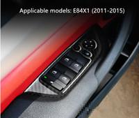 Wholesale E84 Bmw X1 - BMW x1 interior carbon fiber modified e84 modified door glass upgrade board decorative panel stickers 11-15