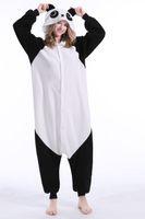 erwachsene tier-overalls groihandel-Panda Stock Warm Einhorn Kigurumi Pyjamas Tier Suits Cosplay Halloween Kostüm-Erwachsen-Garment-Karikatur Jumpsuits Unisex Tiernachtwäsche