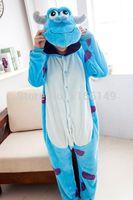 Wholesale Sullivan Costume - Wholesale- monster Sulley Sullivan adult onesies Pyjamas Cartoon animal costume Pajamas Unisex pijamas ,sleepwear ,party clothes