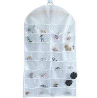 Wholesale Hanging Door Pocket Organizer - Hot 32 Pockets Jewelry Hanging Organizer Earrings Necklace Jewelry Display Holder Dual Sided Jewellery Storage Bag Display Pouch