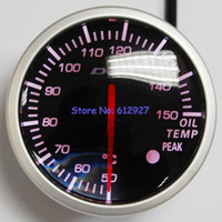 Wholesale Defi Gauge Temp - Wholesale-Free Shipping: 60mm Defi BF Oil Temp Meter Gauge White Red Light