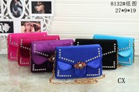 Wholesale newest items - Fashion women handbag crossbody messenger bag tote newest style lady shoulder bag velvet purse 8132# item 6 colors