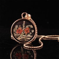 Wholesale Photos Gemstones - 2017 Fashion Glass Photo Frame Pendant Necklace DIY Personality Natural Gemstone Retro Necklace Gold Plated Jewelry For Women Accessories