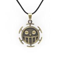 Wholesale Trafalgar Law Surgeon - Wholesale-MF1008 one Piece Necklace Surgeons Trafalgar Law necklace Men's Fashion Accessories Anime