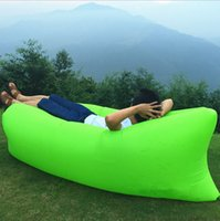 Wholesale Fast Inflatable Camping Sofa banana Sleeping Lazy Chair Bag Nylon Hangout Air Beach Bed chair Couch Lay bag Inflatable sofa