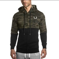 Wholesale Slim Muscle Men - Winter 2016 Muscles Brothers RSRV Camouflage Color Hoodies Gymshark Aesthetics Bodybuilding Fitness Leisure Hoodies running pants