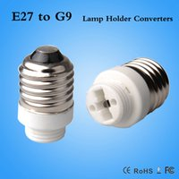 Wholesale G9 Bulb Cfl - hot sale lamp adapter E27 male to G9 female Converter Led Halogen CFL light bulb lamp adapter G9-E27 converter
