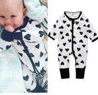 Wholesale Pineapple Clothes - 26 Colors Spring Boys Girls Baby Casual Long Sleeve Rompers Cotton Pineapple Printing Cartoon Zipper Climbing Clothes HY2119