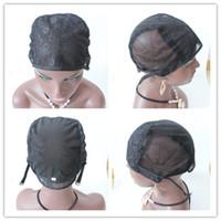 ingrosso capelli ebrei-5 pezzi di alta qualità S m. L formato all'ingrosso ebraico parrucca glueless caps capelli umani parrucca Cap per fare parrucche cinghie regolabili indietro
