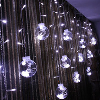 Wholesale halloween controller online - DHL Globe String Lights LED warm white Twinkle Lights with Modes Controller Transparent String Cable for Party Garden Wedding Decor