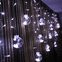 globus party string lichter groihandel-DHL Globe String Lights 108LED warmweiß Twinkle Lights mit 8 Modi Controller Transparent String-Kabel-für Party / Garten / Hochzeitsdekor