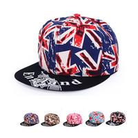 Wholesale Union Hats - 2017 New Baseball Caps 6 Colors Union Jack Snapback Hats For Men & Women Hip Hop National Flag Couple Ball Caps