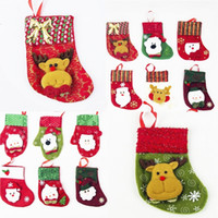 Wholesale thinning knife for sale - New Christmas accessories bags Santa Claus Snowman Kitchen Cutlery Holders Knives Forks Bags Christmas Christmas Decorations B0943