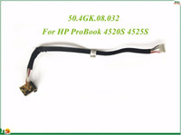 Wholesale Hp Probook Cable - DC Power Jack Harness Plug Cable 50.4GK.08.032 For HP ProBook 4520S 4525S Series High Quality&100% Working&90 Days Warranty