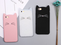 Wholesale Ear Covers Cat - New Cute Cartoon 3D Black beard Cat Ears Animal Capa Soft Silicone Phone Cases Cover For iPone 7 7Plus 6 6S 6Plus Fundas