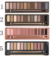 Wholesale 12 color eyeshadow palette online - lowest price hot new Makeup color NUDE mix eyeshadow eyeshadow palette