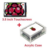 Wholesale Raspberry Pi Acrylic - Freeshipping Raspberry Pi 3 Model B 3.5 inch LCD TFT Touch Screen Display +Stylus+ Acrylic Case Compatible Raspberry Pi 2