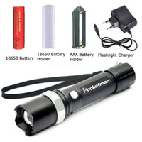Wholesale Yellow Led Torch - FT17 LED Flashlight XM-L T6 3800LM Aluminum Waterproof Zoomable Flashlight Torch 5modes for 18650 Rechargeable Battery or AAA