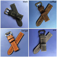 Wholesale Large Horse - 2017 new rough mad strap leather horse watch strap with large buckle men's watch with black coffee gray-WB12075