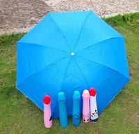vases parapluie achat en gros de-Fashion Creative Three Folding Rose Vase Umbrella Portable Outdoor Sun Umbrella